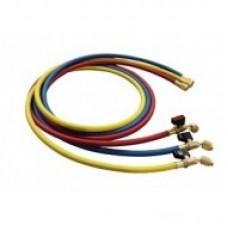 Комплект заправочных шлангов VRP-C-RYB с вентилем (150 cм) (R410)