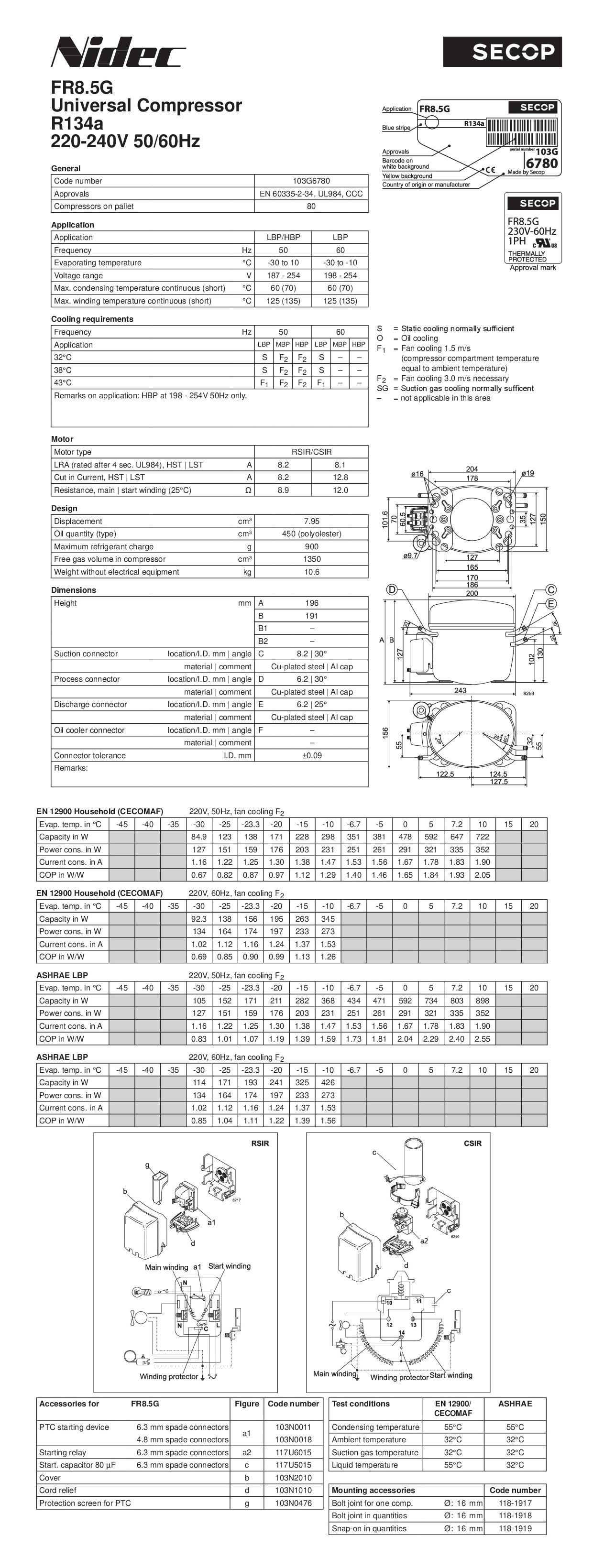 Danfoss Fr8 5g Compressor Wiring Diagram Trusted Diagrams Secop Fr 8 5 G